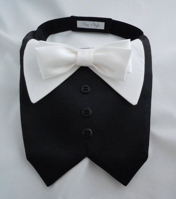 TUX collar bib for Small Dogs by DogStyle on Etsy, $20.00