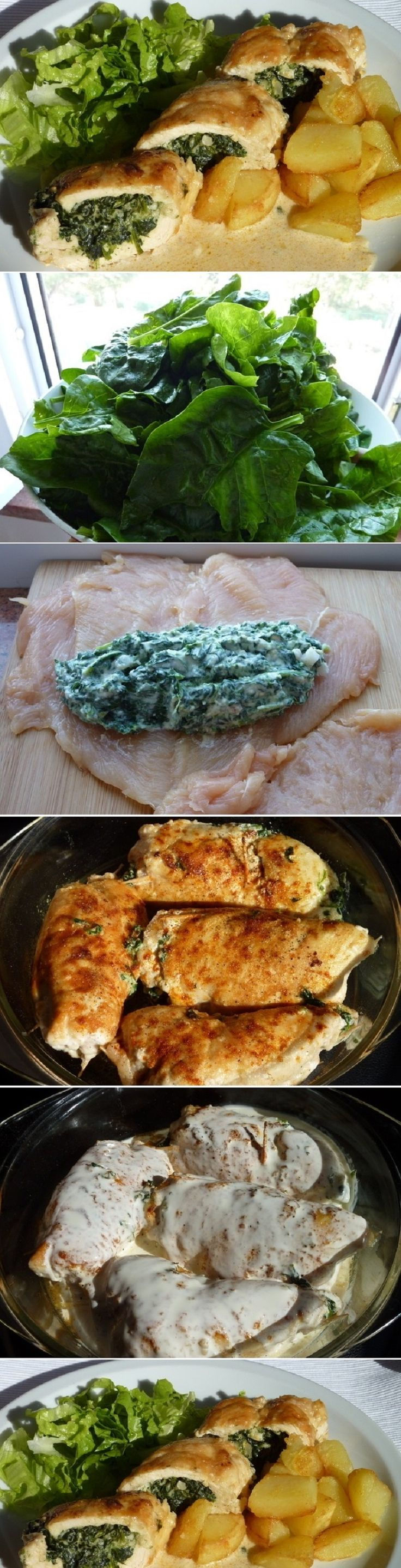 Chicken Rolls with Spinach and Cheese - Fav Recipes
