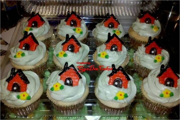 7 best images about housewarming cupcakes on pinterest for New home cupcake decorations