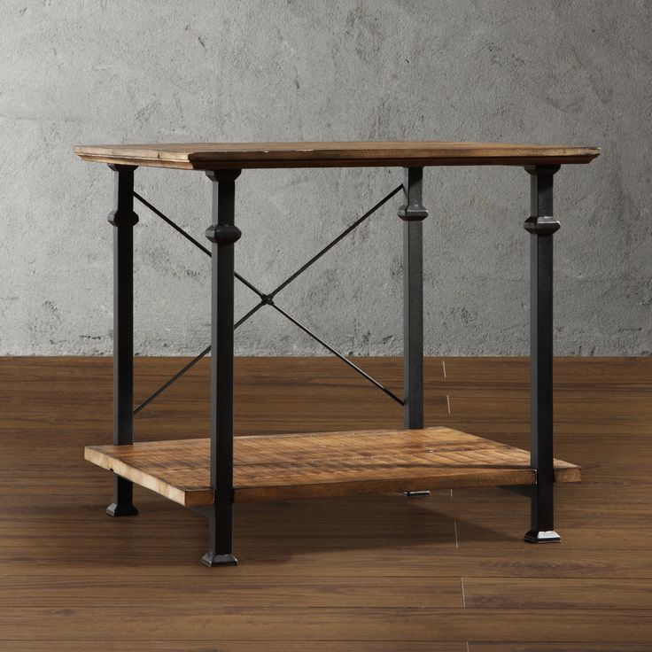 Homelegance Factory Square Wood End Table - End Tables at Hayneedle