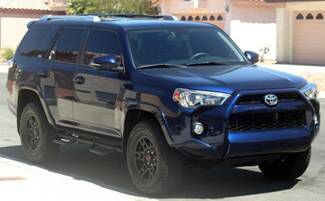 Nautical Blue Toyota 4Runner with black TRD Wheels