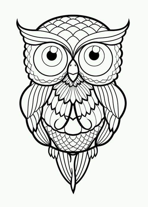 tattoo owl coloring pages - photo#9