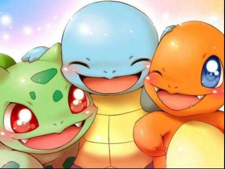 quienes son los mas bellos quien ? Bulbasaur, Squirtle and Charmander