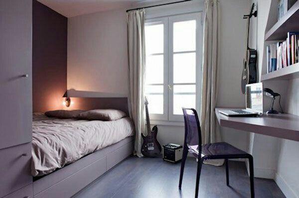Фиолетовые оттенки спальня