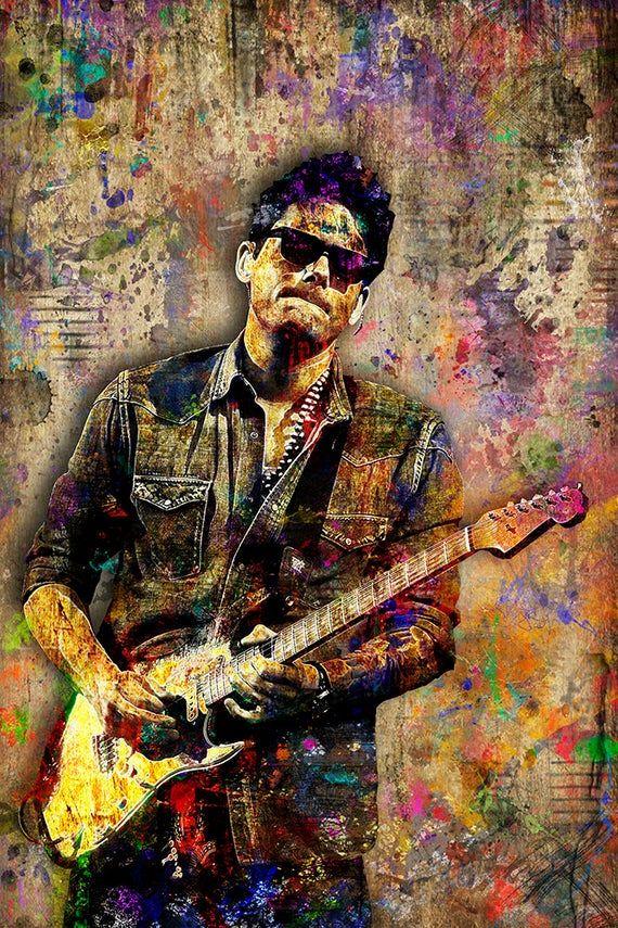 John Mayer Print John Mayer Artwork John Mayer Tribute Art John Mayer Poster For John Mayer Fans John Mayer Poster John Mayer Music Poster Design
