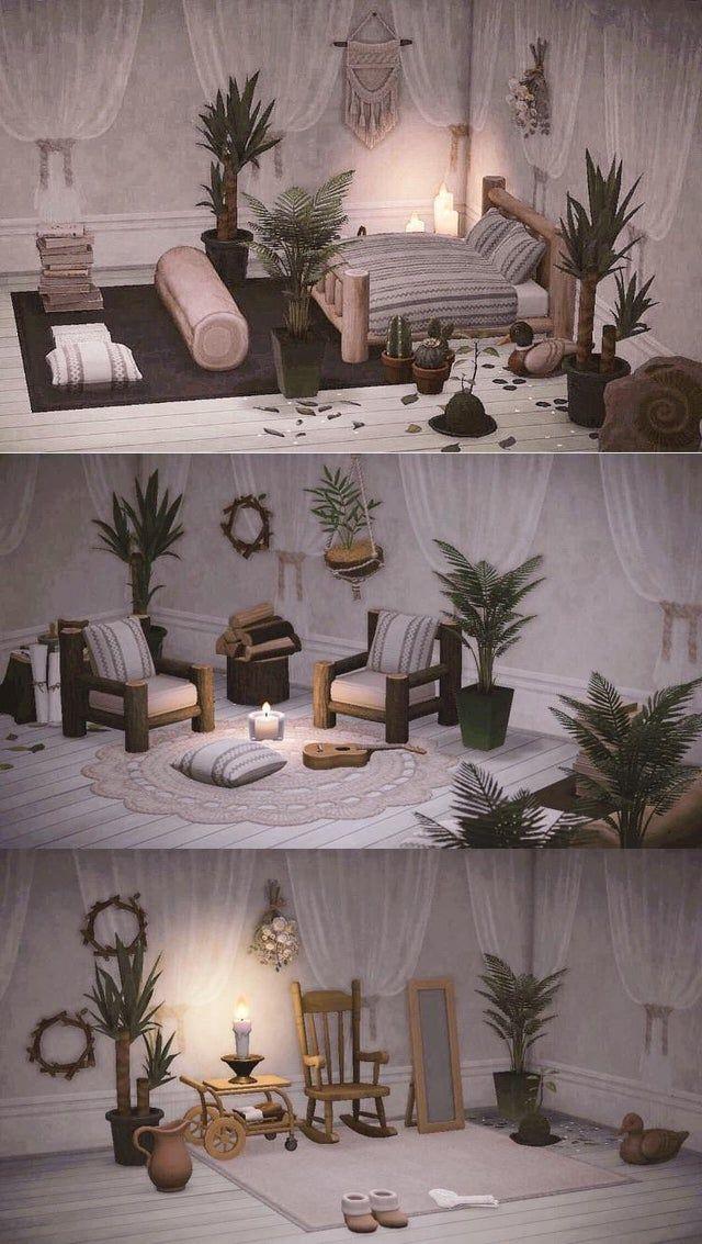 My cozy bedroom (ins @acwhyisland) - AnimalCrossing in ... on Animal Crossing New Horizons Bedroom Ideas  id=44871