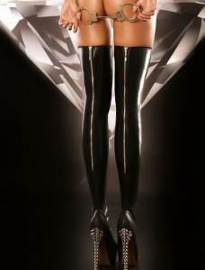 Eleganta wetlook stockings  med dragkedja bak 209 kr/par