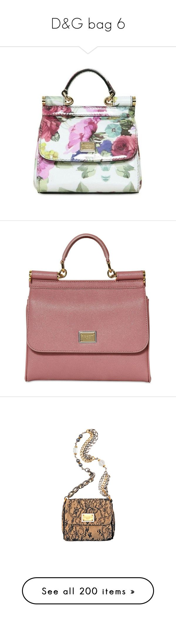 """""""D&G bag 6"""" by alina-chipchikova ❤ liked on Polyvore featuring bags, handbags, white patent leather handbag, flower print handbags, dolce gabbana purses, flower print purse, white patent leather purse, purses, powder pink and red hand bags"""