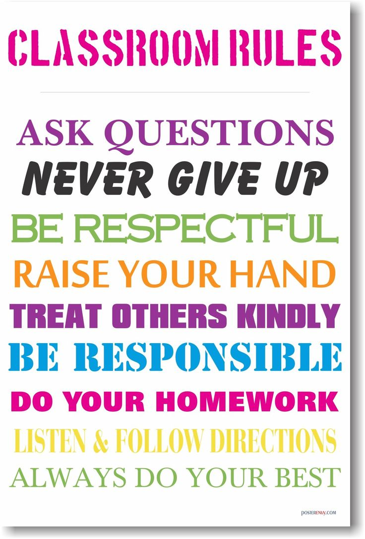 Design Classroom Posters : Classroom rules new motivational poster