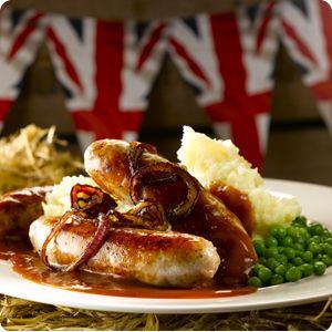 Bidvest 3663 Blog - Old English Bangers & Mash with Crispy Onions & Red Wine Gravy