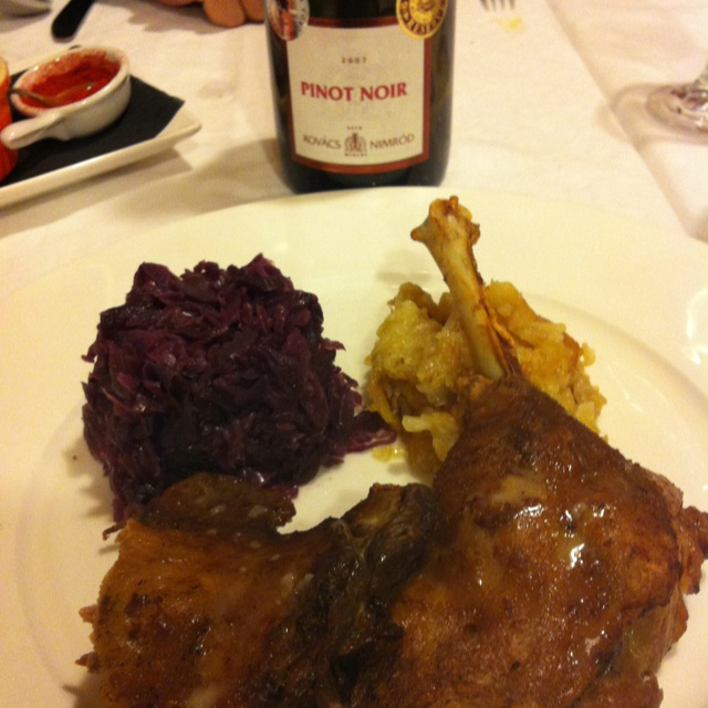 A little goose dish with KNW Pinot at  Rosenstein's!