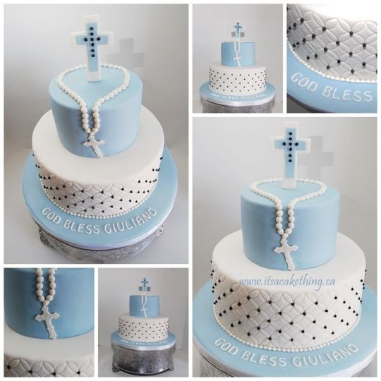 Communion cake for a boy cakesdecor cakes pinterest for 1st holy communion cake decoration ideas