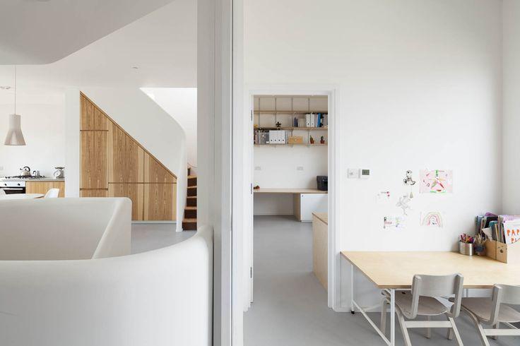 Gransden Avenue. Pocket doors split play/study from kitchen/sitting area