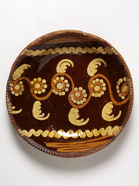English slipped dish ...1750