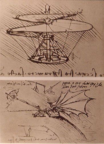 Leonardo da Vinci helicopter and lifting wing - Leonardo da Vinci – Wikipédia, a enciclopédia livre