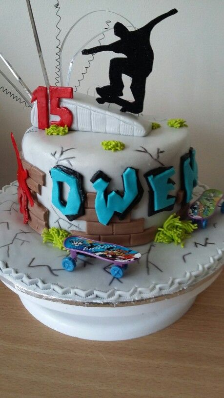 Skateboard birthday cake                                                       …