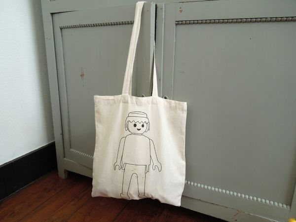 Playmobil tote bag (use transfer paper)