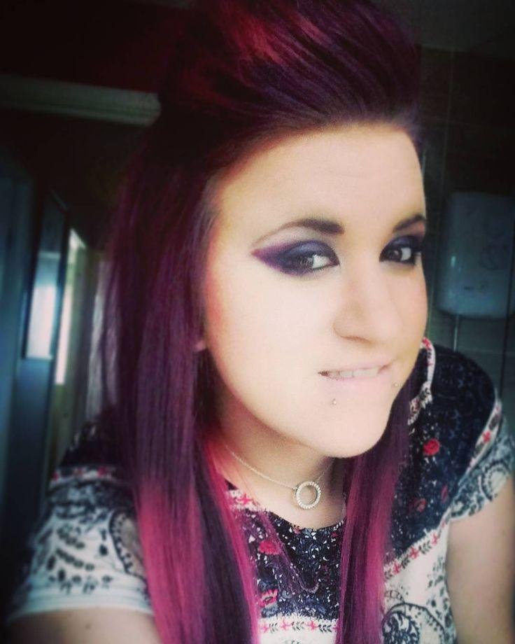 Purple �� #purple #purplehair #eyeliner #eyemakeup #piercingsforlife #piercings #alternative #tomboy #tattoosandpiercings #girlswholikesgirls #bi #smile #chill #happy #metalhead #metal #rock #rockchick #ink #tattoo #lippiercing #earstretching http://ameritrustshield.com/ipost/1552820833415958486/?code=BWMulIflY_W