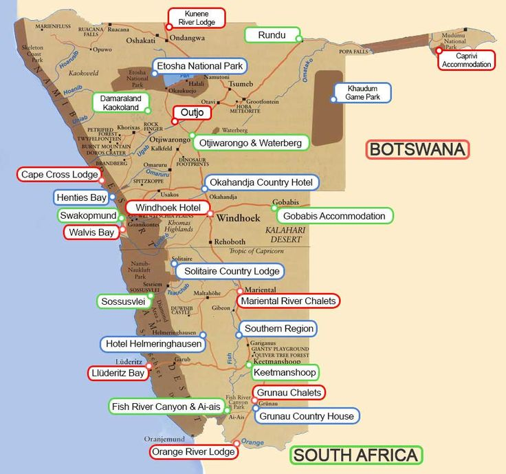 cape town to namibia road map - Google Search