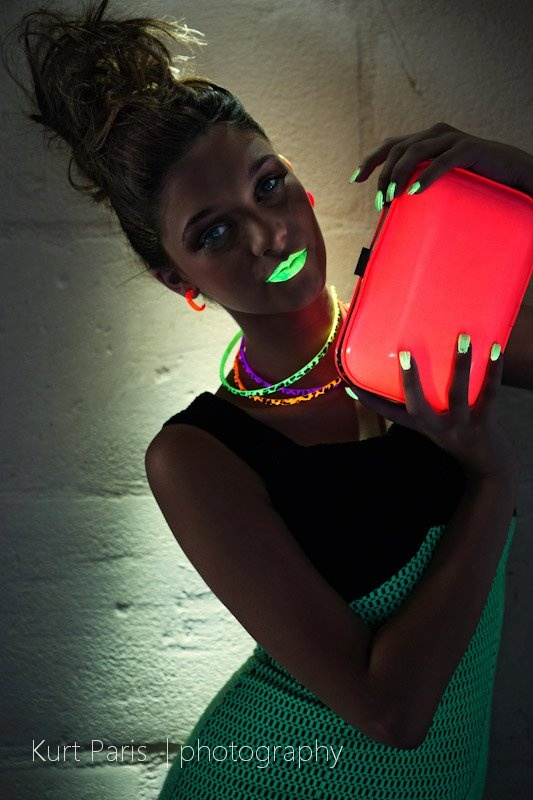 NEON FASHION    Photography: Kurt Paris Kurt Paris | Photography  Models: Valentina Rossi   Makeup... pinned with Pinvolve