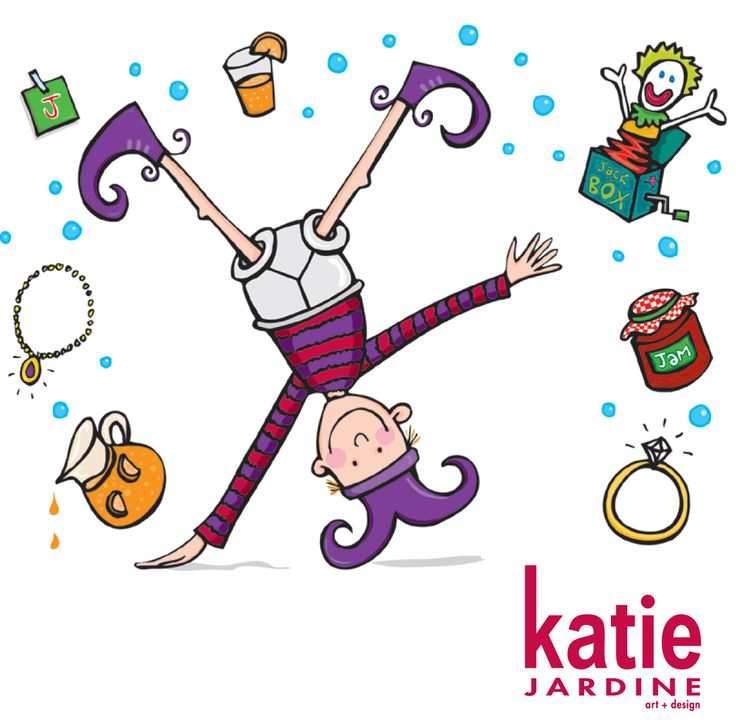 j is for juggle - illustration - i feel like this is me some days, but haven't quite mastered the cartwheel yet!