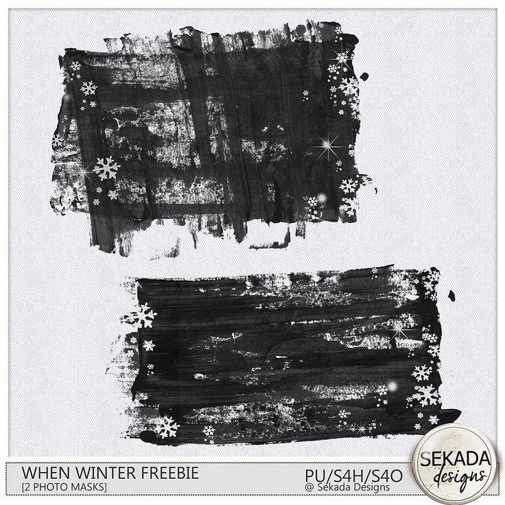 Digital Art :: Element Packs :: When Winter Photo Masks [Freebie]