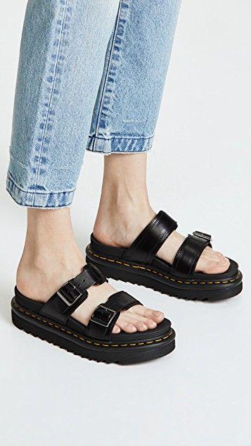 Myles Slides in 2019   Fashion hacks   Dr martens sandals