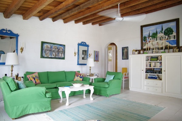 Spetses Sitting Room, Mother-in-Law Furniture Reinvented