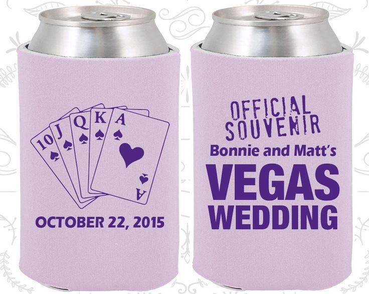 Las Vegas Wedding Favors, Unique Wedding Favors, Official Souvenir Vegas Wedding, Playing Cards,  Wedding Favor Koozies (65)