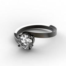 Bague Etreinte en diamant et or noir #surmesure #joaillerie #diamant #or #noir #fiancailles #bague
