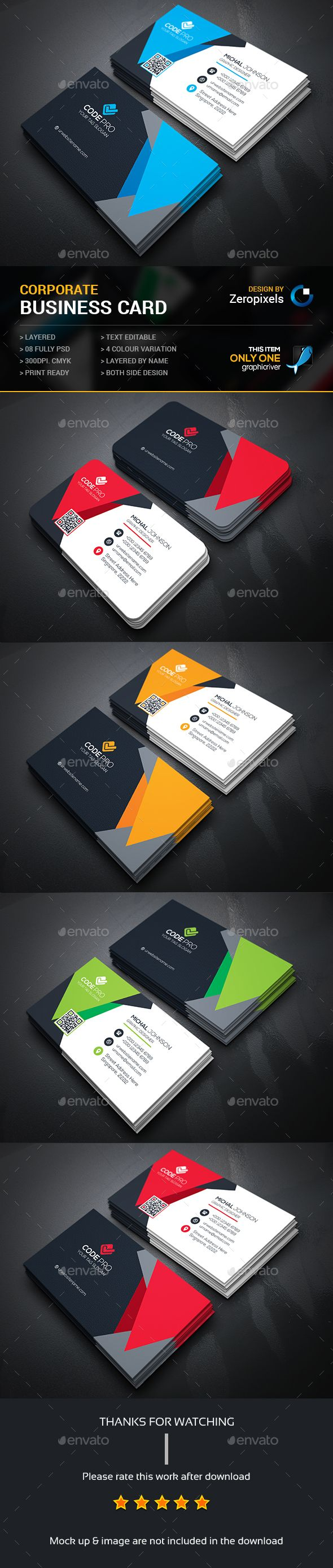 Business Card — Photoshop PSD #bundle #flyer • Available here → https://graphicriver.net/item/business-card/15233627?ref=pxcr
