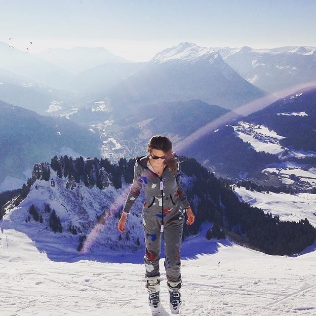 Maïté Blanchet is wearing the One direction all over print💥  Le Grand-Bornand - Haute Savoie (France)