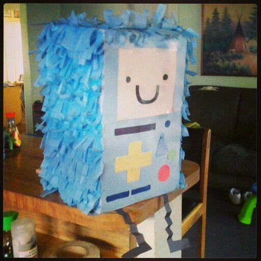 Diy adventure time pinata #bmo #bemo #finn #jake #diy #adventuretime
