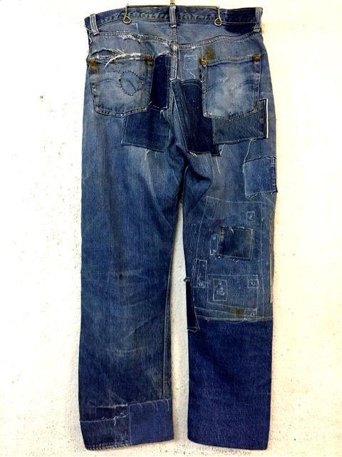 LEVIS   501XX   Leather  Patch  1940s