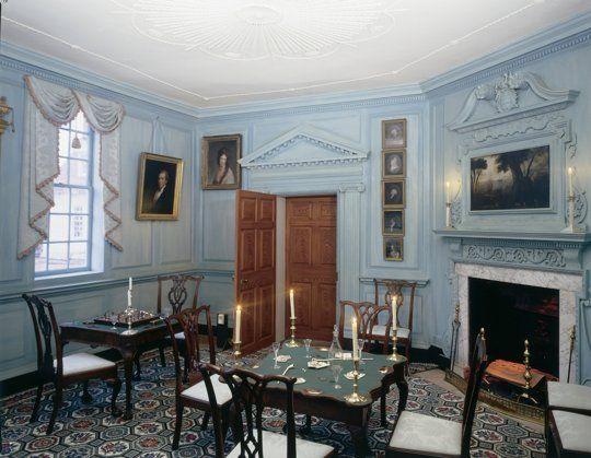 Card Room, George and Martha Washington's Mount Vernon Estate | Historic Colors of the Mount Vernon Estate