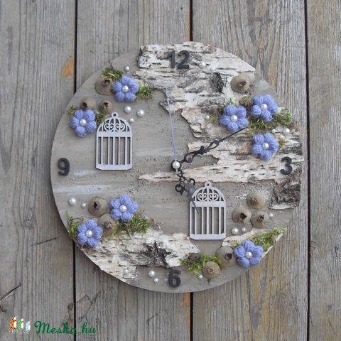 Attitűd - egyedi falikép, óraszerkezettel, Otthon, lakberendezés, Falióra, Meska