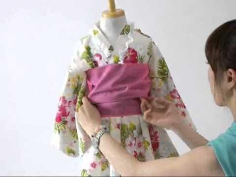 子供浴衣の着せ方 帯の結び方
