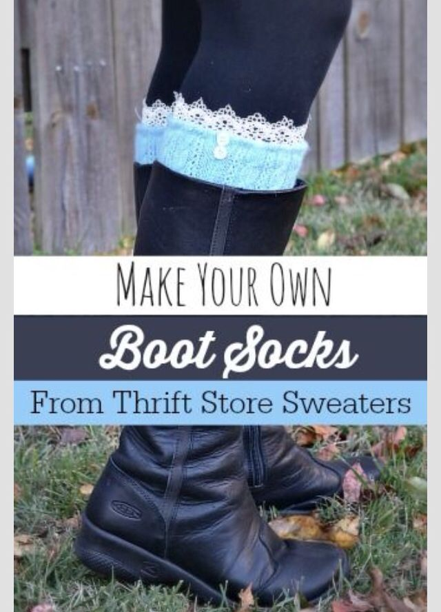 Boot socks from sweaters                                                       …