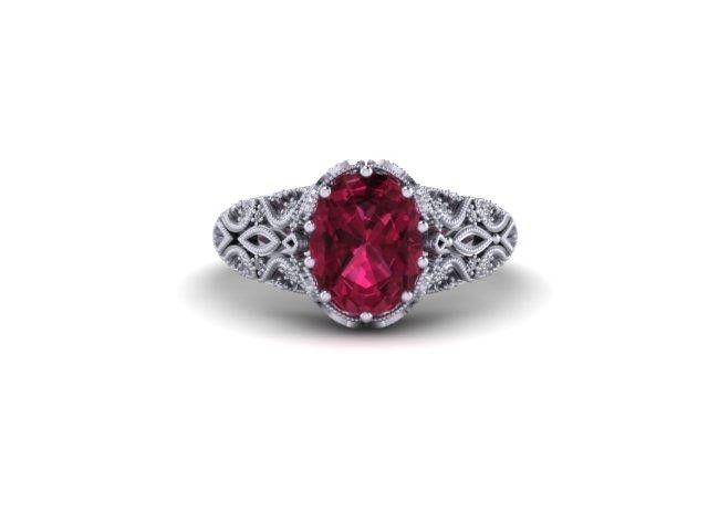 Custom Design Coloured Stone Ring – Dana's Goldsmithing