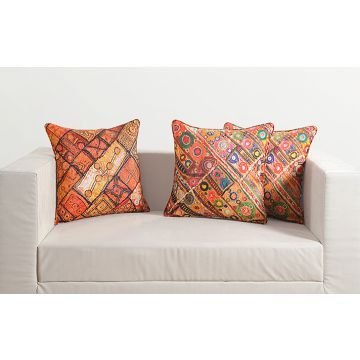 Swayam Digital Printed Vibrant Color Deco Cushion Covers Multicolor
