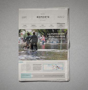 Sistema de dos tapas de diario con noticias reales. Diseño Editorial, Cátedra Manela, FADU-UBA 2015.