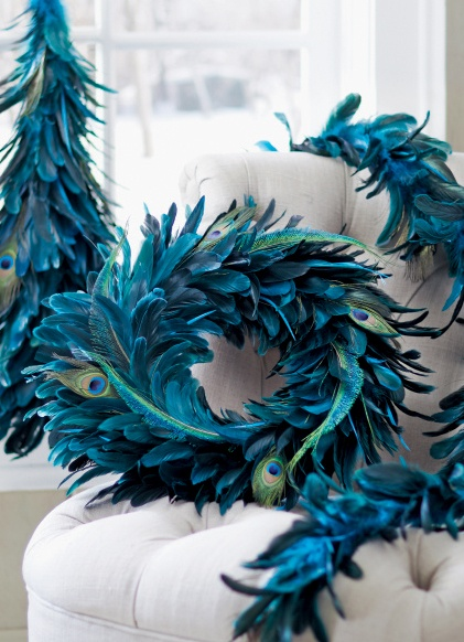 Our Peacock Christmas Collection is full of jewel tone items that add texture to the season. #holiday2012 #peacock HomeDecorators.com