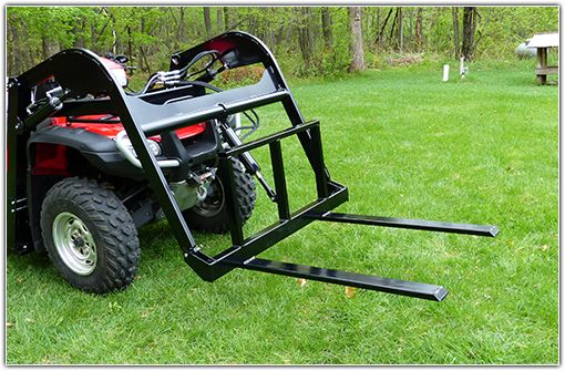 Wild Hare Hydraulic ATV Fork Attachment (Horses, quad, four-wheeler, 4-wheeler, farming, equestrian, maintenance, riding arena, hay, landscaping, stall, cleaning, pallet, loading, loader, gardening, food plots)