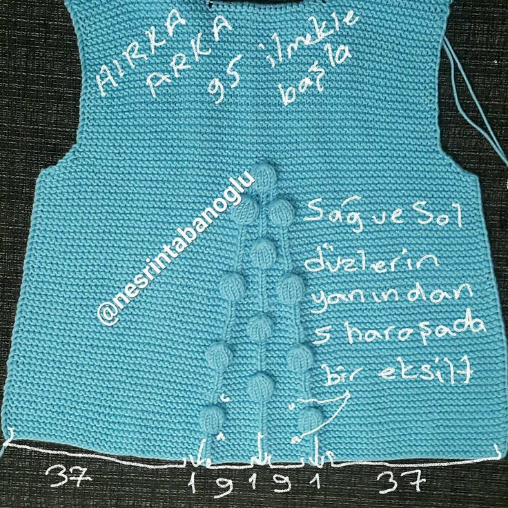 HIRKA ARKA =95 İLMEK ile başla  37 ilmek haroşa  1 düz  9 haroşa  1 düz  9 haroşa  1 düz  kalan ilmekler haroşa  sağ ve sol  düz ilmeklerin yanından 5 haroşa da 1 er eksilt  kol altı  kesimi  3  1  1  1  olarak kes  KOL =45 ilmek başla  sadece haroşa örülecek  10 haroşa sırasında sağ ve sol taraftan 1 er ilmek artırarak ör koltuk altına gelince sağdan ve soldan 3 er ilmek eksilt daha sonra  10 ilmek kalana kadar iki taraftan 1 er ilmek kes  kolay gelsin.