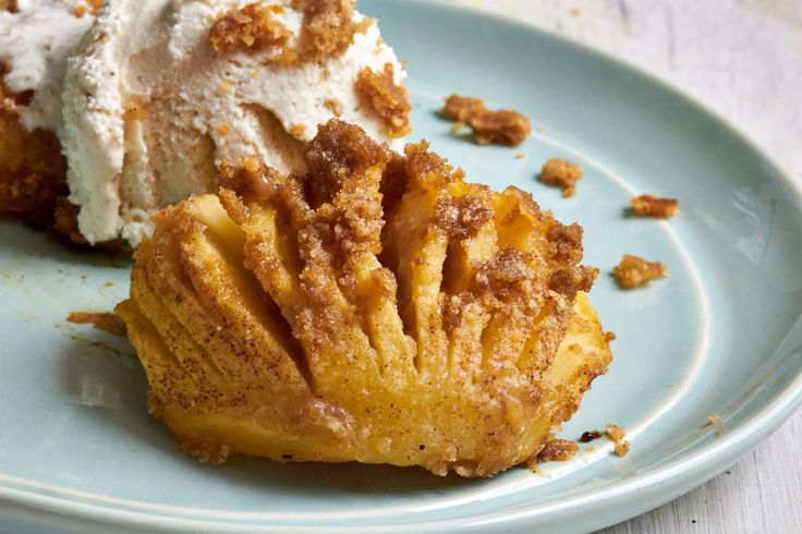 Streusel-Topped Hasselback Apples are like Dutch Apple pie without a crust. Pick a firm, sweet apple like Honeycrisp or Golden Delicious for best results