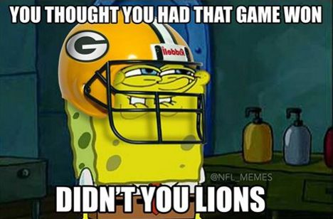 NFL meme 12/3/2015 Packers vs Lions