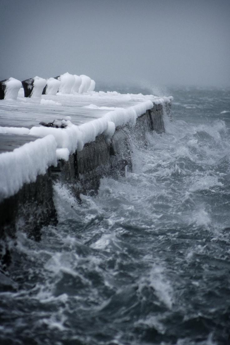 Molo Audace, Trieste, ghiacciato.  Bora rules!