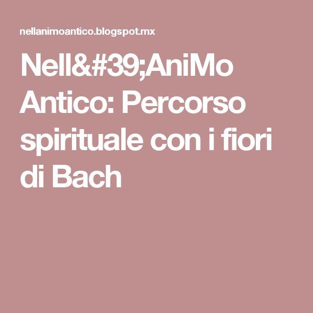 Nell'AniMo Antico: Percorso spirituale con i fiori di Bach