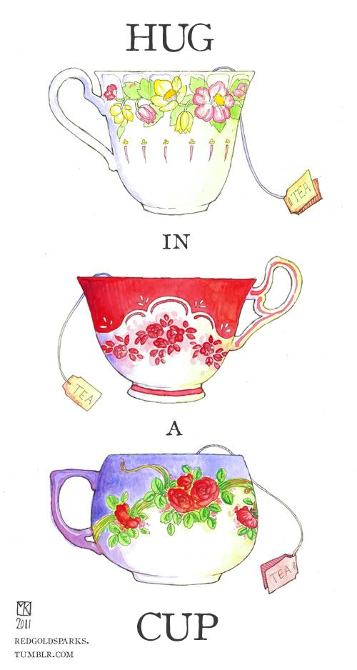 ✿⊱╮The Perfect Cup of Soothing, Warming, Comforting Tea = Like a HUG in a CUP
