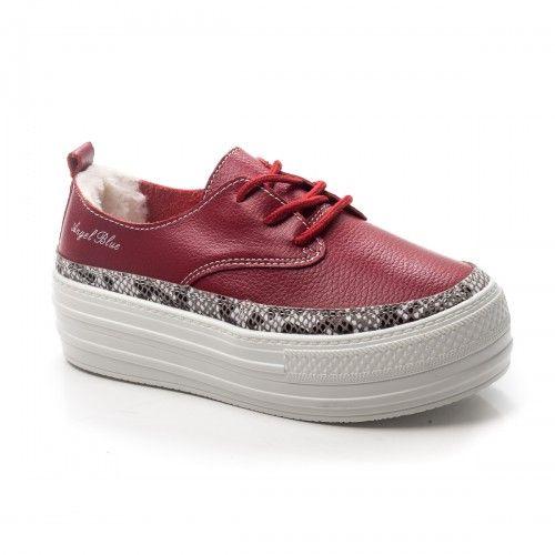 -45% Pantofi dama Piele Persse visinii cu talpa groasa
